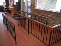 Wood Top Wrought Iron Railing