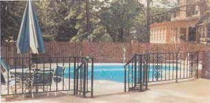 Wrought Iron Railing Pool Fence