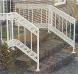 Harringbone Wrought Iron Railing